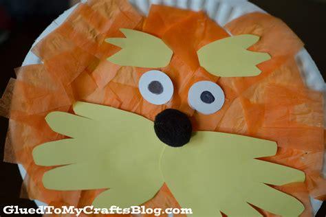 Dr Seuss Paper Plate Craft - lorax paper plate craft a owl