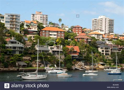 houses to buy in sydney australia houses and sailing boats in mosman bay sydney nsw australia stock photo royalty free