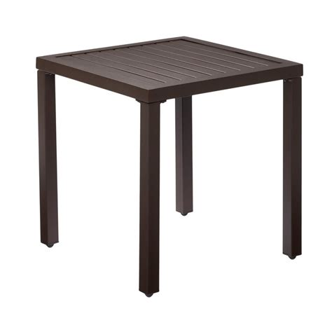 metal outdoor side table hton bay mix and match metal outdoor side table