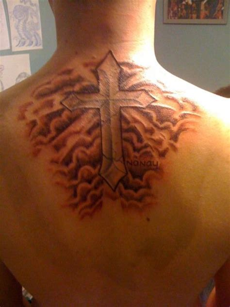 cross tattoo with shading cloud tattoos designs ideas and meaning tattoos for you