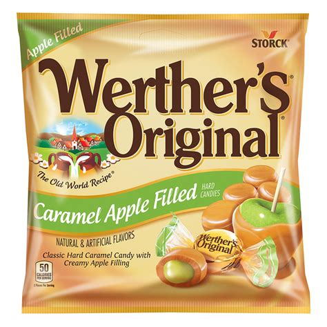 Werther's Original Caramel Apple Filled Hard Candies 2.65oz (75g)   American Fizz
