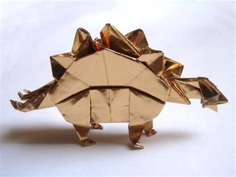 Origami Stegosaurus - origami stegosaurus by montroll part 1 of 3