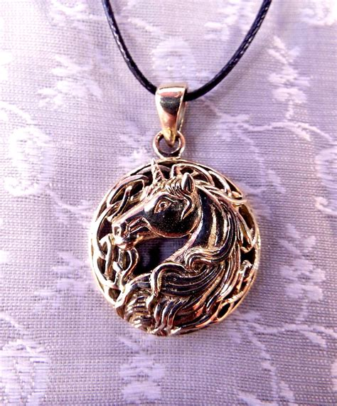 Baby Choker Necklace Bronze Kalung Handmade bronze unicorn pendant