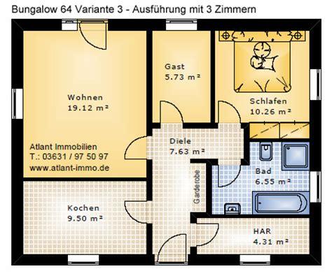kleines haus bauen 60 qm bungalow neubau beste wohnqualit 228 t bungalows ab 64 m 178