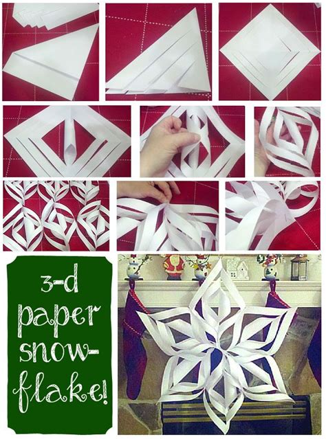 3d Snowflakes Paper Craft - these easy 3d paper snowflakes are the