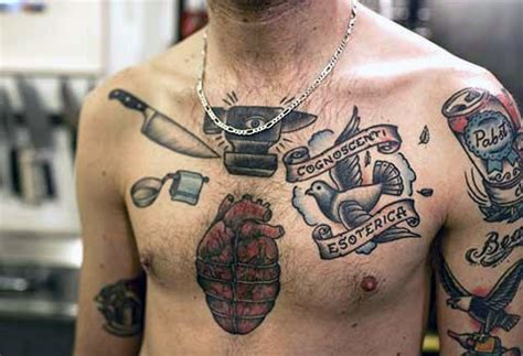 chest tattoo knife 60 chef knife tattoo designs for men cook ink ideas