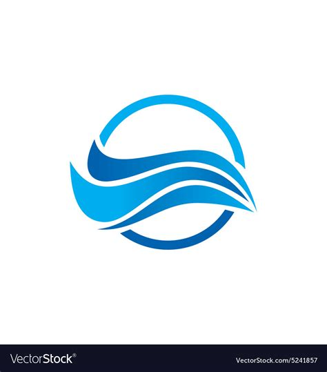 water wave abstract logo royalty free vector image