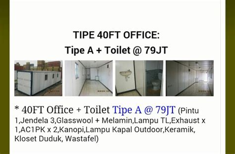 Container Office Dan Toilet office container 40 tipe a toilet harga container