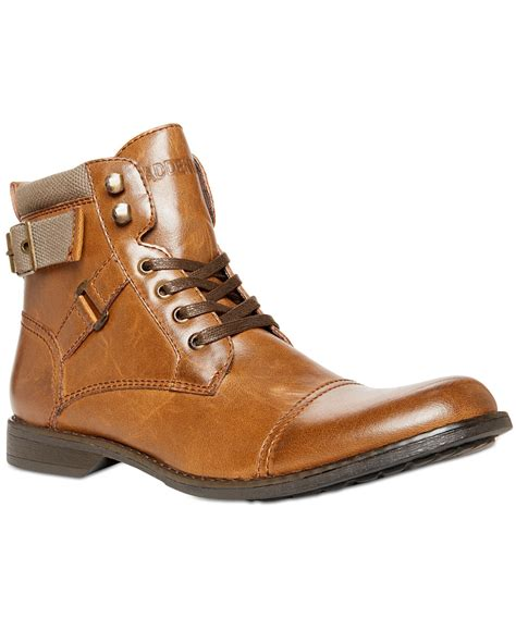 madden boots steve madden madden kooper lace up boots in brown for