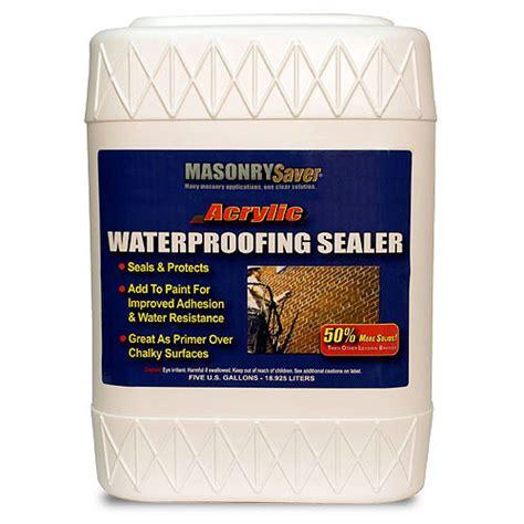 Acrylic Sealer masonrysaver acrylic waterproofing sealer 5gal