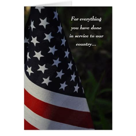 cards for veterans thank you veteran on veteran s day flag card zazzle