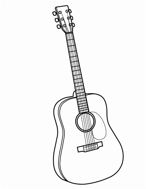 acoustic guitar coloring page awesome guitar picture printable edinburghensemble