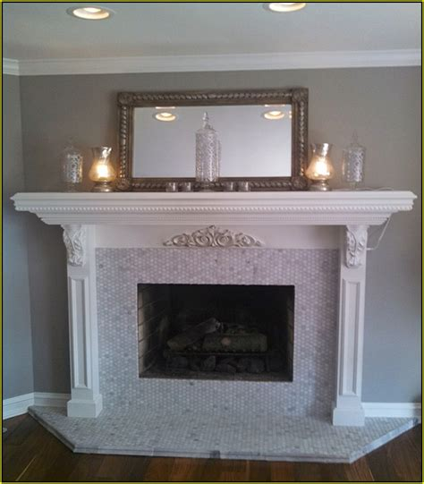 limestone tile fireplace surround www imgkid the