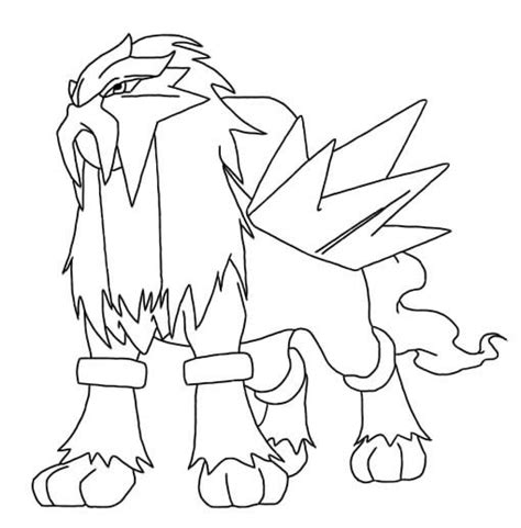 pokemon coloring pages raikou entei lineart by necet on deviantart