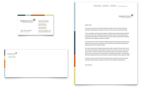 Bank Letterhead Template Bank Business Card Letterhead Template Design