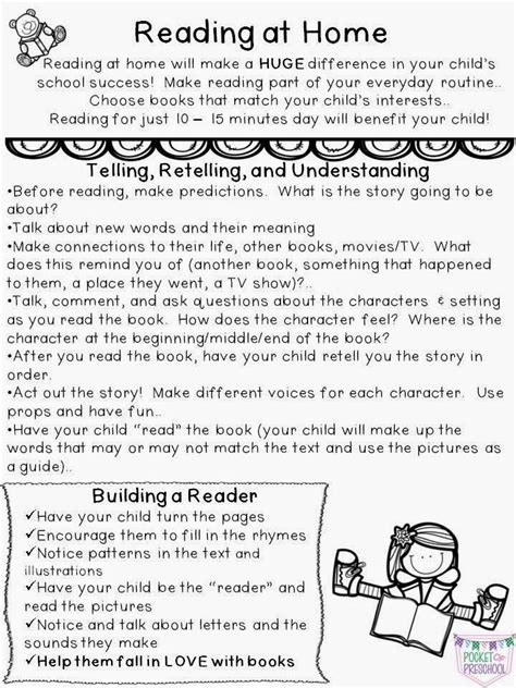 Parent Letter Reading Strategies at home reading parent note includes reading and