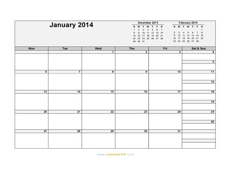 january 2014 calendar template january 2014 printable calendar portrait www imgkid
