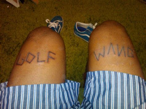 tyler the creator tattoo meaning just fliping the first letters of wolf greatest day of