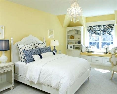 Light Blue And Yellow Bedroom Bedroom With Light Yellow Walls Blue Yellow Bedroom Design Pictures Remodel Decor And Ideas