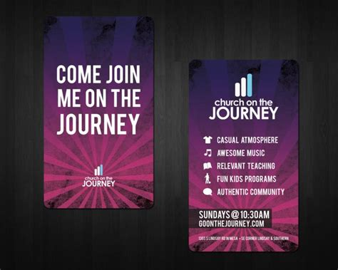 church invite cards template church on the journey invite cards churches business