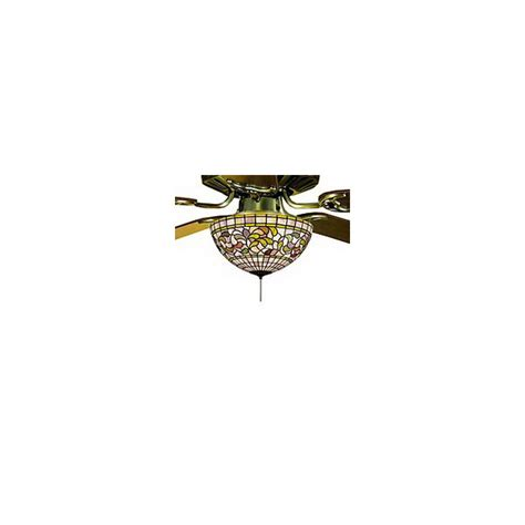 stained glass ceiling fan light kit shop meyda tiffany 3 light ceiling fan light kit with