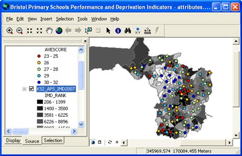 linking  mapping postcoded school performance data