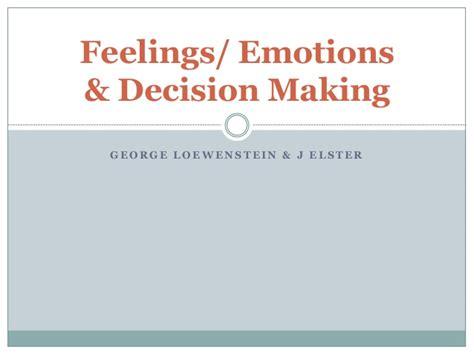 Mba Behavioral Economics by Emotions Behavioral Economics