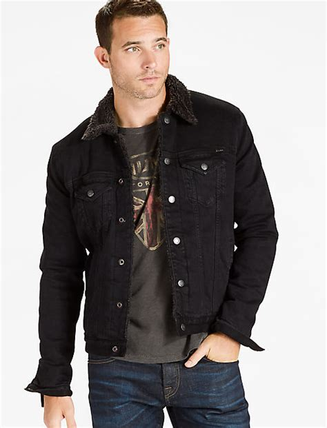 Jaket Jaket Levis Denim Hoodie 001 sherpa lakewood jacket lucky brand