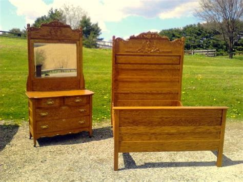 bunk beds with matching dressers antique matching set double bed and dresser oak circa 1910