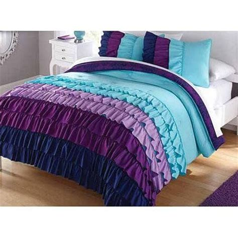 teal teen bedding purple and teal teen ruffle bedding ruffles are so pretty in a girls bedroom