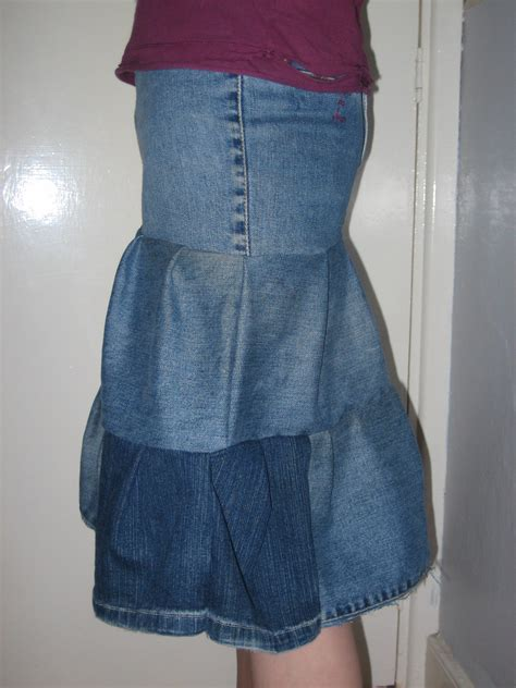 tiered denim skirt sewing projects burdastyle