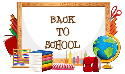 back to school clipart whiteboard and back to school vector free