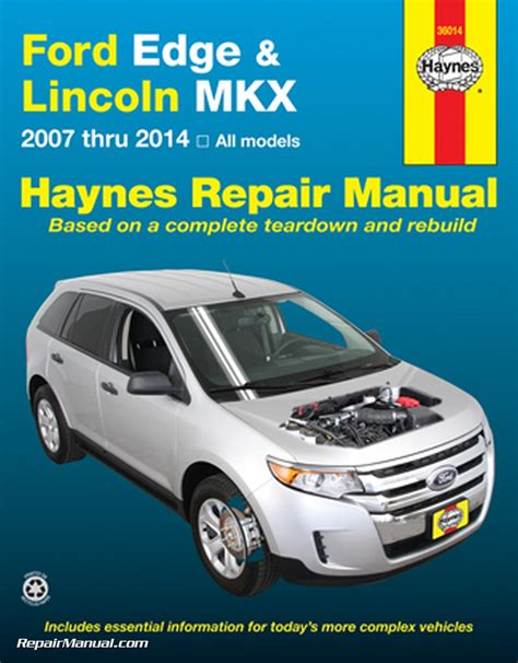 ford edge lincoln mkx haynes repair manual 2007 2014