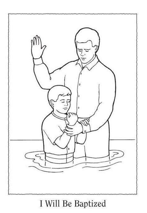 coloring pages jesus baptism happy clean living primary 3 lesson 11 handouts