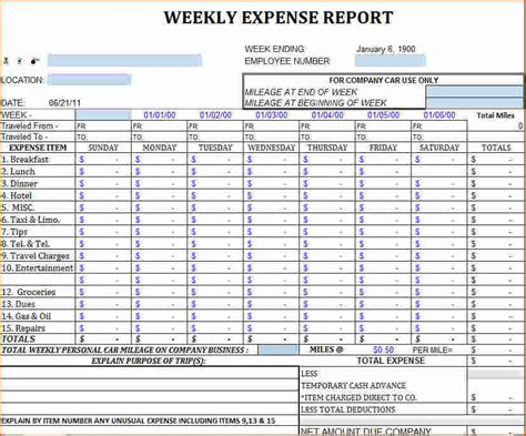 mileage expense report template excel 8 excel report template printable receipt