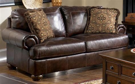 ashley leather loveseat ashley leather sofa and loveseat my new sofa and loveseat