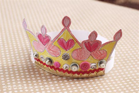 craft of crown printable kings and queens crown free printable the