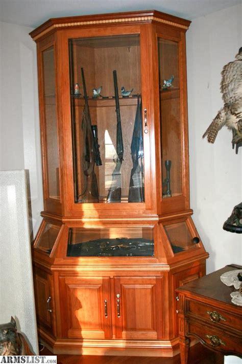 Handmade Gun Cabinet - armslist for sale custom gun cabinet