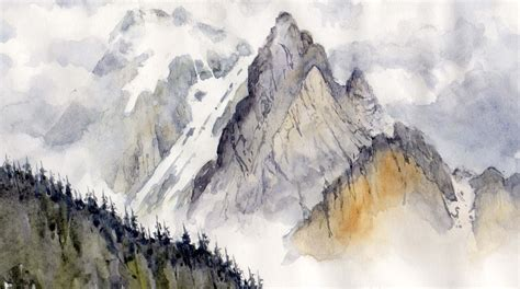 Mountain To Mountain mountains in watercolor bellamy s bivouac