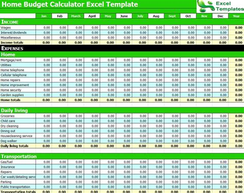 budget calculator template budget calculator excel spreadsheet budget calculator