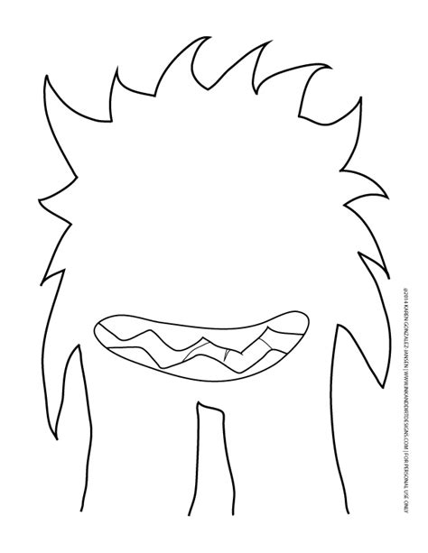 moster template 8 best images of printable templates printable