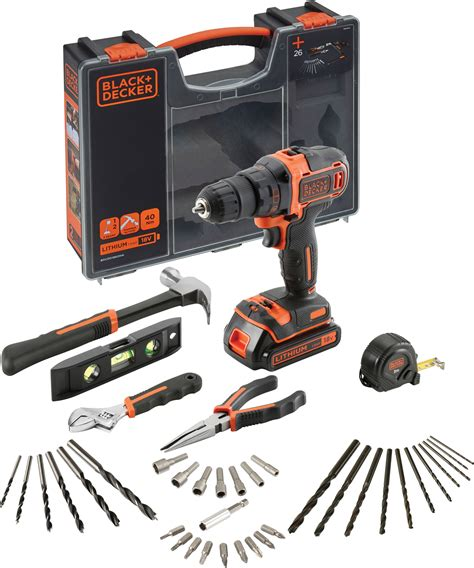 Drill Bit Black Decker A8073 Mata Bor 6mm black decker bdcdd186oha qw 18 v drill med led lys og 40 ulike tilbeh 248 r