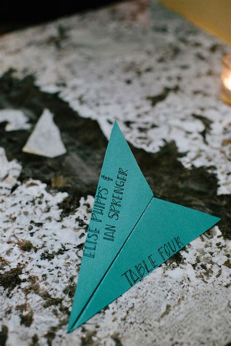 paper airplane place card template and adam s philadelphia magic gardens wedding