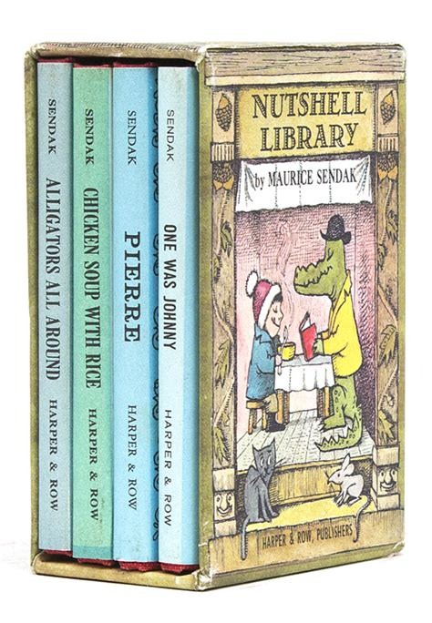nutshell library caldecott collection die mini bibliothek the nutshell library maurice sendak first german edition
