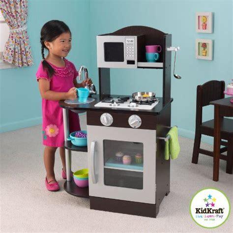 Espresso Play Kitchen Sets kidkraft modern espresso silver toddler kitchen