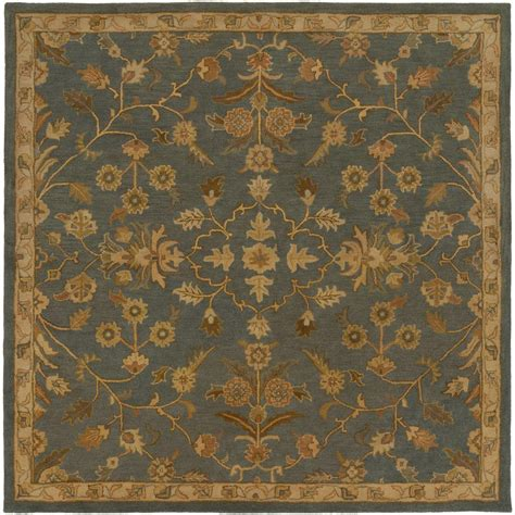 Square Area Rugs 9 X 9 Artistic Weavers Zari Charcoal 9 Ft 9 In X 9 Ft 9 In Indoor Square Area Rug S00151007728
