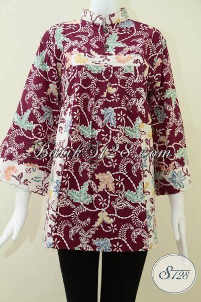 Baju Pesta Wanita Big Size baju batik wanita terkini terbaru ukuran big size bls1016c toko batik 2018