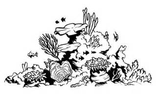 coral reef clipart black and white coral reef coloring pages bestofcoloring