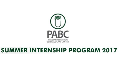 Summer Internship 2017 Deadlines For Application Mba by Pakistan Aluminium Beverage Cans Pabc Summer Internship