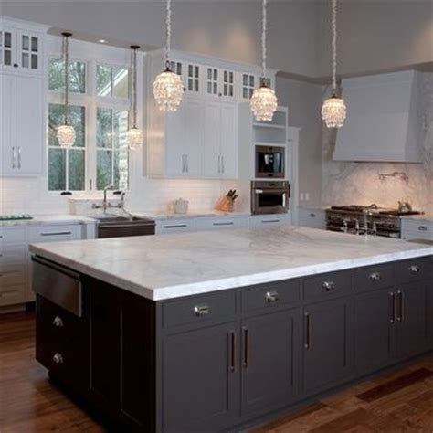 White Kitchen Cabinets And White Countertops White Cabinets Black Island River Valley White Granite Countertops For The Home
